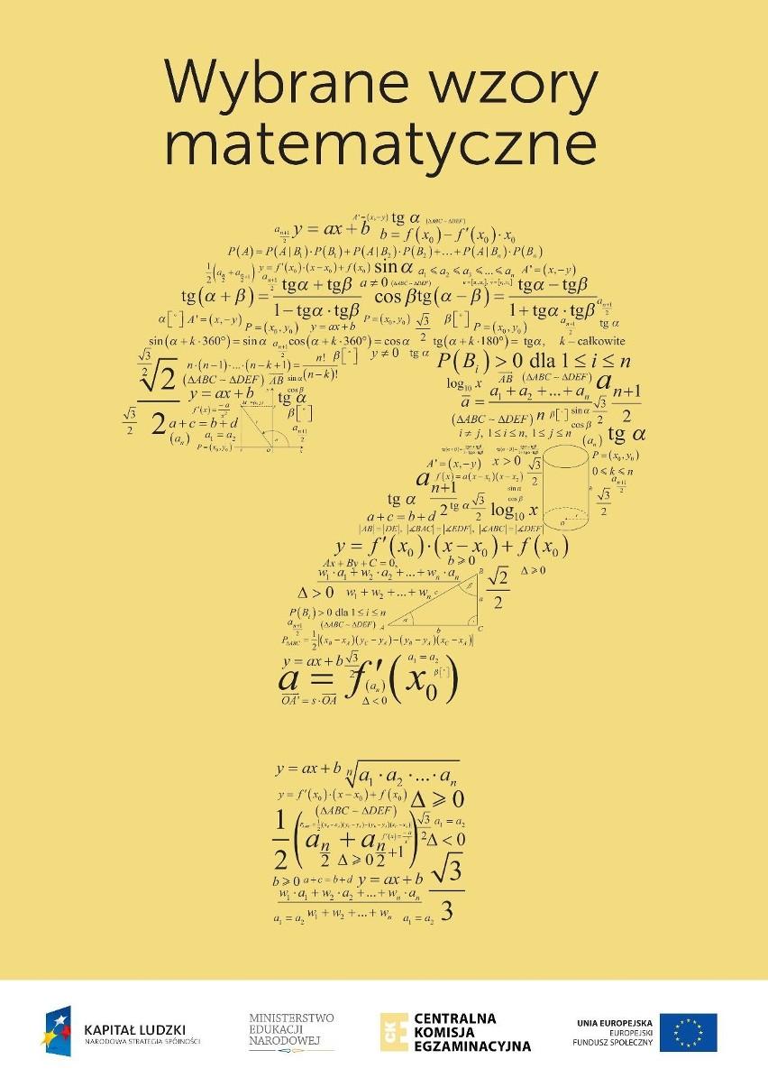 matura z matematyki co potrzebne