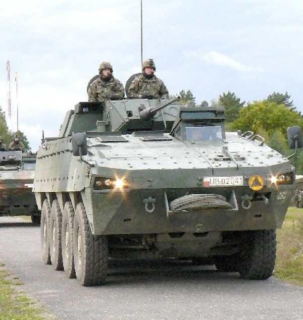 Wizytówką międzyrzeckiej brygady są transportery Rosomak