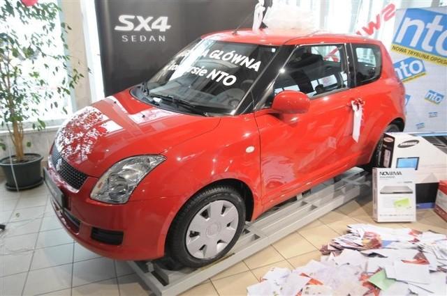Suzuki swift - główna nagrody loterii.