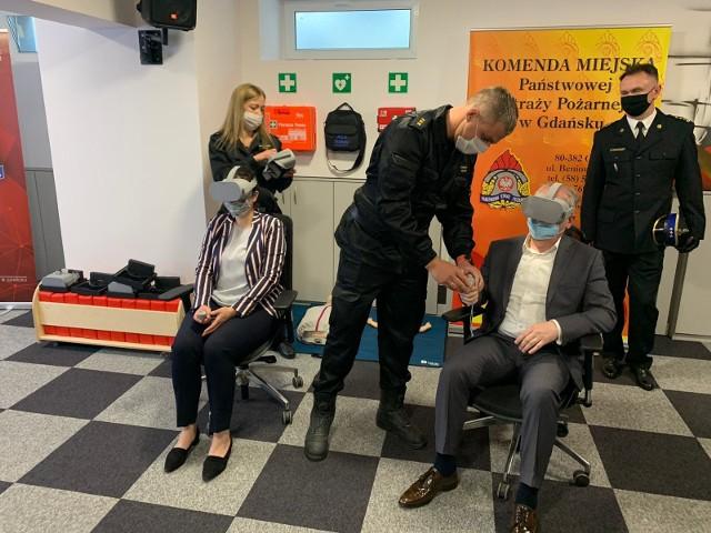 W Gdańsku otwarto multimedialną salę edukacyjną Ognik.Dzieci dowiedzą się, co robić podczas pożaru.