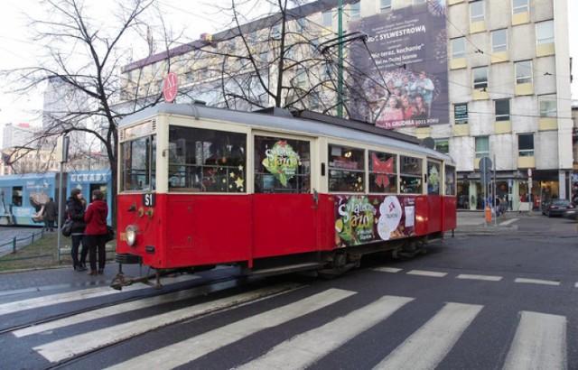 Zabytkowy tramwaj Świąteczna jazda Muzeum Śląskie