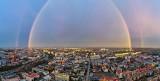 Tęcza w Białymstoku. Mamy grudzień a nad miastem tęcza. Jaka będzie pogoda na sylwestra? (zdjęcia)