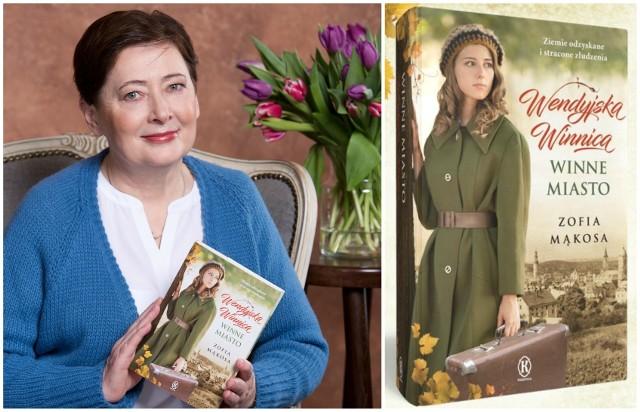 """Zofia Mąkosa urodziła się w Kargowej. W pobliskim Chwalimiu, gdzie toczy się akcja powieści """"Wendyjska winnica. Cierpkie grona"""" i częściowo """"Winnego miasta"""" - przez wiele lat mieszkała"""