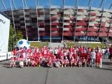 Mali i duzi kibice z Dobczyc na Stadionie Narodowym kibicowali biało-czerwonym!