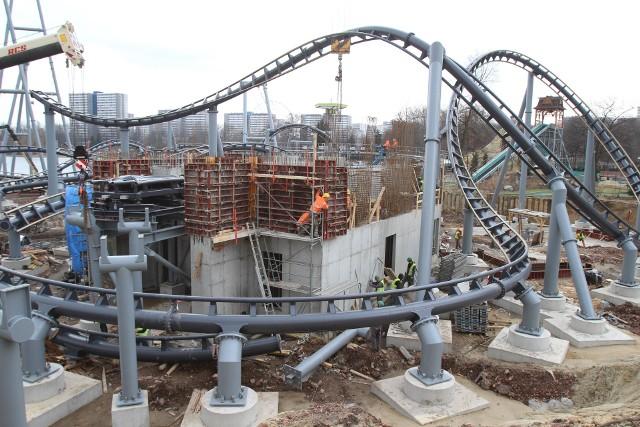 Budowa roller coastera w Chorzowie