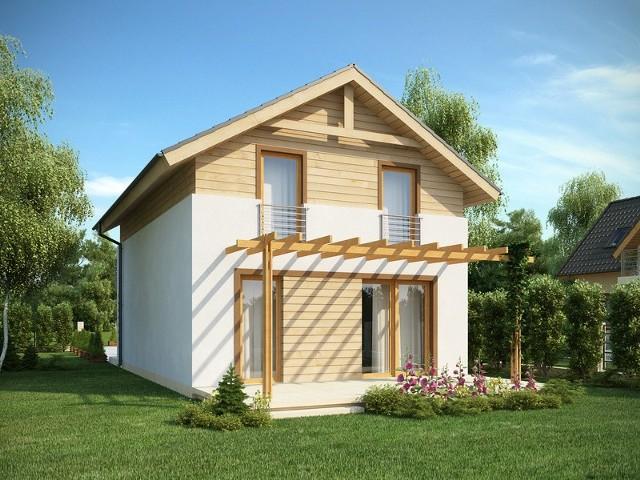 Nawet mały murowany domek może być niezwykle efektowny