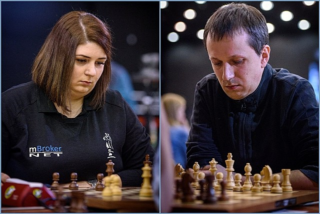 Klaudia Kulon i Radosław Wojtaszek wygrali MP w szachach błyskawicznych w Katowicach