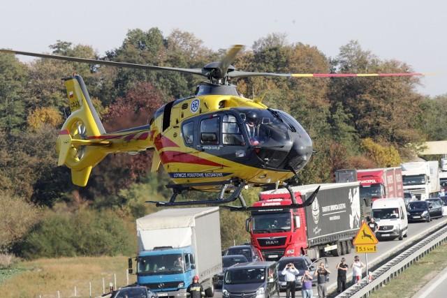 Wypadek na autostradzie A4, zdjęcie ilustracyjne
