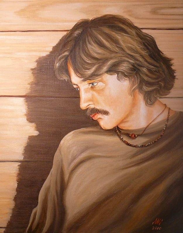 Portret Wojciecha Belona, który przekazany zostanie do Stacji Górskiego Ochotniczego Pogotowia Ratunkowego na Połoninie Wetlińskiej jako dar Ponidzia.