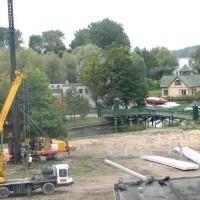 Widok na budowę z kamienicy przy ul. Wojska Polskiego