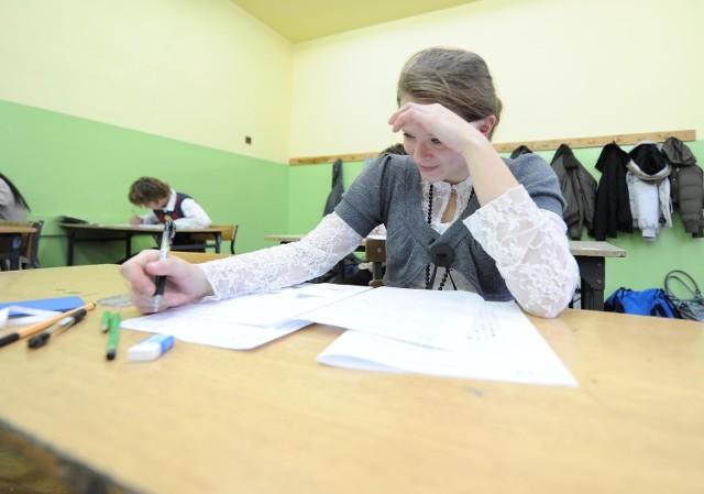 Egzamin gimnazjalny.