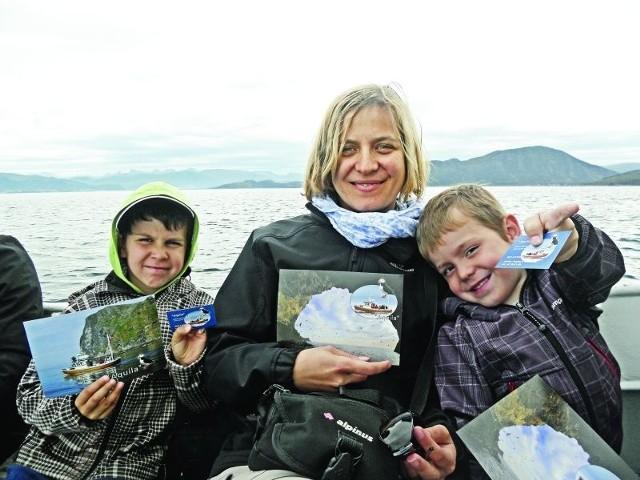 Olga Morawska z Ignacym i Gustawem w Norwegii. - Synowie potrzebują miłości i szczęścia, a nie zrozpaczonej matki.