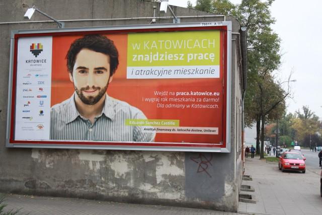 Katowice szukają pracowników przez billboardy