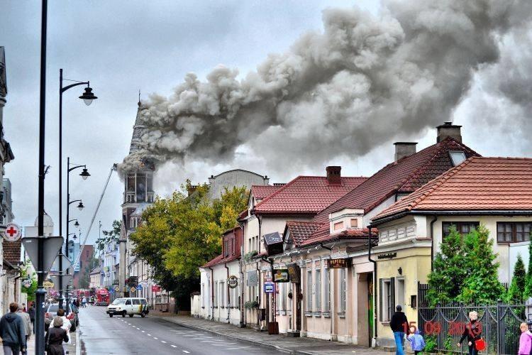 Pożar kościoła św. Wojciecha w Białymstoku. Spaliła się...