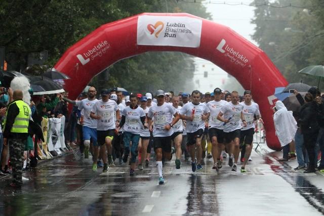 Start ubiegłorocznej edycji biegu Lublin Business Run