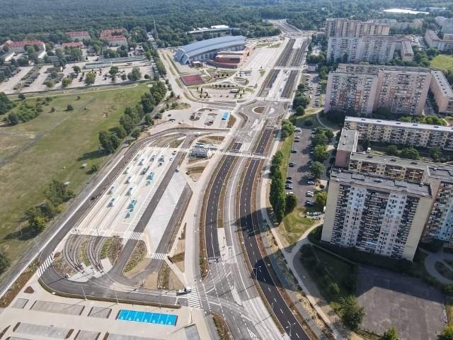 Powstało nowe torowisko, pętla, chodniki i ścieżki rowerowe, jezdnie i ronda.
