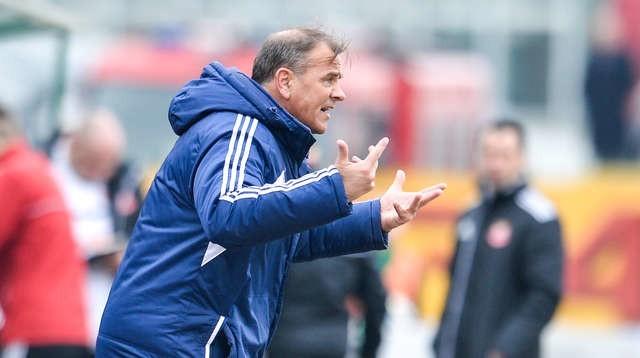 Dariusz Kubicki jeszcze jako trener I-ligowej Olimpii Grudziądz.    FOT. PAWEŁ SKRABA