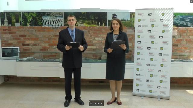 Ogłoszenie wyników konkursu - dr Renata Kobylarz Buła i Sebastian Mikulec.