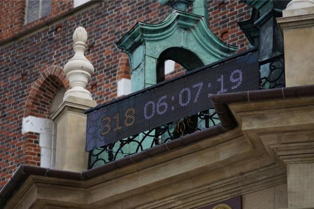 Zegar odliczający czas do rozpoczęcia Światowych Dni Młodzieży