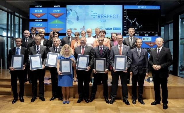 Przedstawiciele 22 spółek wyróżnionych w projekcie Respekt Index