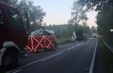 Proniewicze. Śmiertelny wypadek zablokował DK19. Ciężarówka zderzyła się z busem. Zginęli dwaj kierowcy (zdjęcia) 12.09.2019