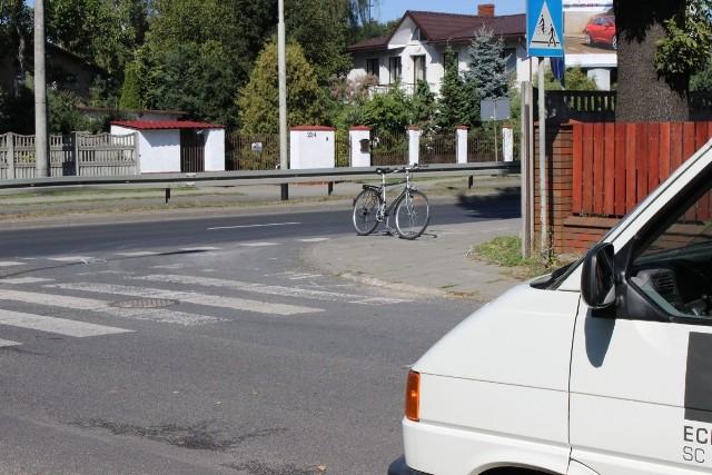 Potrącenie rowerzysty na przejeździe rwerowym na Łagiewnickiej