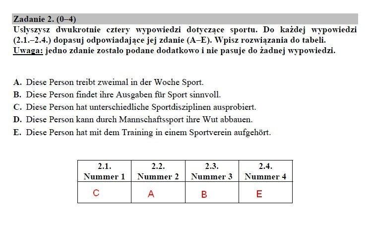 Matura 2019. Język niemiecki poziom rozszerzony ODPOWIEDZI, ARKUSZ CKE. Matura z j. niemieckiego rozszerzenie 14.05.2019