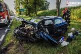 Prostki. Wypadek na DK 65. Karambol czterech aut. Dwa wylądowały na boku (zdjęcia)