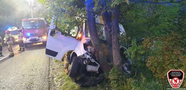 Wypadek na trasie 212 Chojnice-Bytów. Jedna osoba trafiła do szpitala.