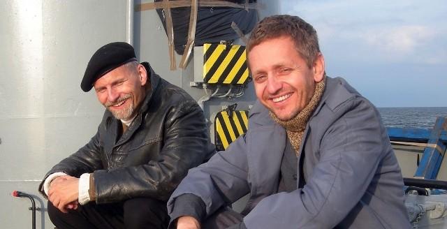 """Kadry z filmu """"Wielka Ucieczka na Północ"""". Przemysław Walich jako podporucznik Jens Müller i Paweł Niczewski jako sierżant Peter Bergsland."""