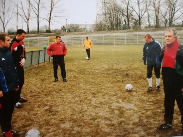 Tak piłkarze Odry trenowali kiedyś
