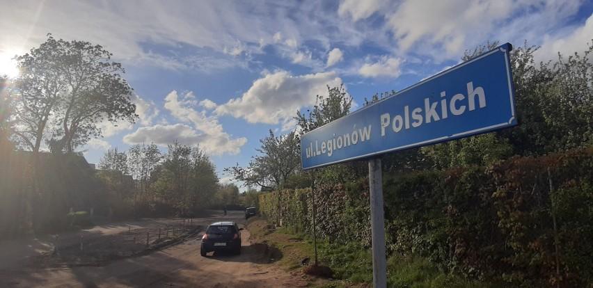 Zamknięty zostanie odcinek gruntowy ulicy Legionów Polskich.