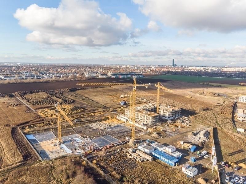 Wrocław co roku rozbudowuje się o kolejne nowe tereny...