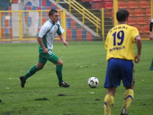 Krzysztof Biegański, napastnik Gryfa, wiosną będzie grał w Kotwicy Kołobrzeg.