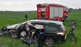 Tragedia na trasie Bydgoszcz - Koronowo. Zginęła jedna osoba [zdjęcia]