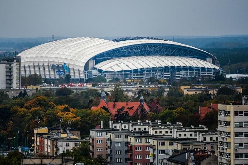 Inea Stadion przy ul. Bułgarskiej...