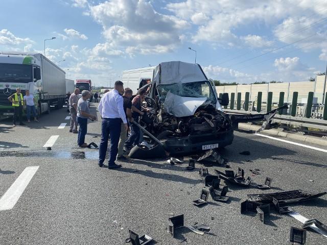 Wypadek na A4 przed Węzłem Targowisko