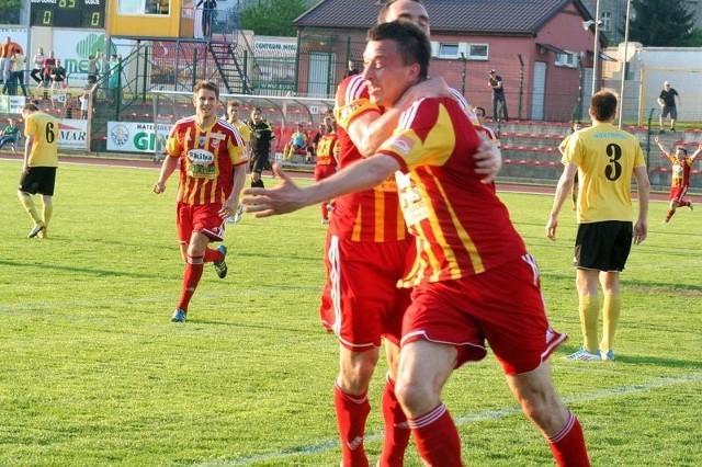 W Katowicach piłkarze Chojniczanki cieszyli się z prowadzenia, ale ostatecznie przegrali 1:2.