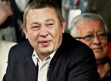 Były właściciel piłkarskiej spółki ŁKS Daniel Goszczyński, z prawej Antoni Panek, były prezes