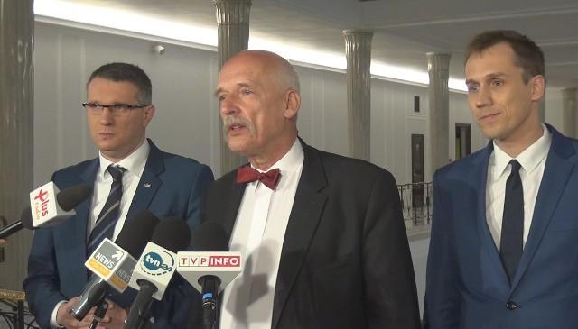 Przemysław Wipler, Janusz Korwin-Mikke i Konrad Berkowicz