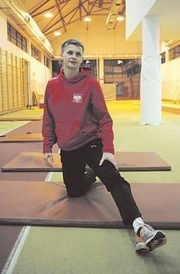 Dariusz Kuć podczas treningu w hali AWF Fot. Wacław Klag