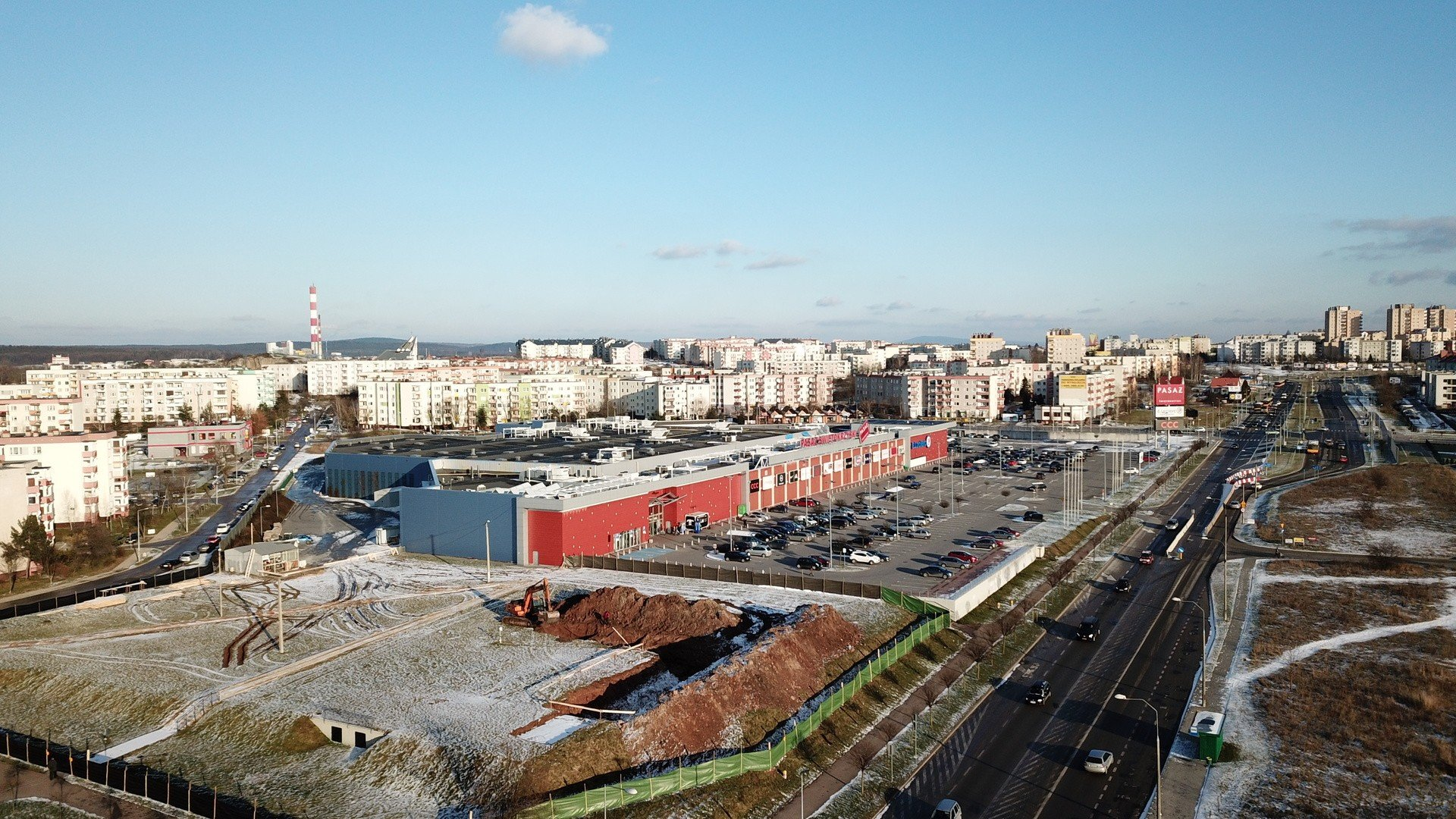 876686b4 Ruszył drugi etap budowy Pasażu Świętokrzyskiego w Kielcach na osiedlu  Ślichowice. Tak wygląda plac budowy