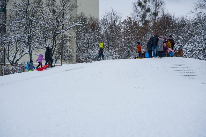 Zima na osiedlu Piasta w Białymstoku