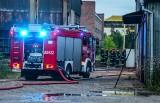 Pożar pustostanu po dawnej fabryce ZNTK w Poznaniu