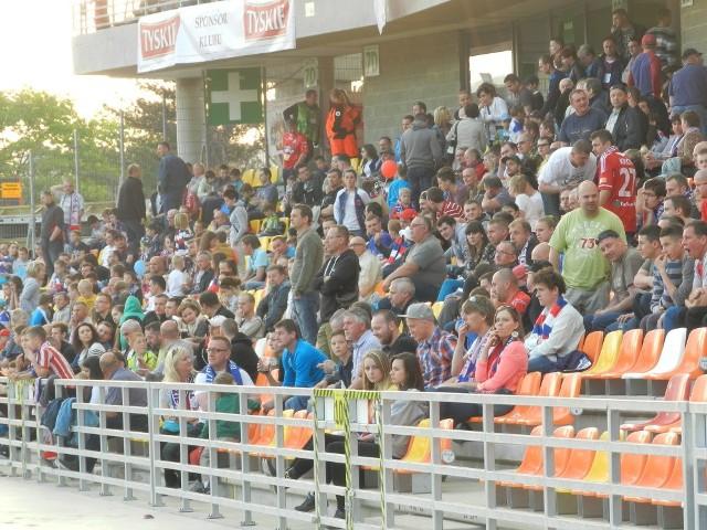 Kibice na meczu Podbeskidzie Bielsko-Biała - Jagiellonia Białystok 2:1