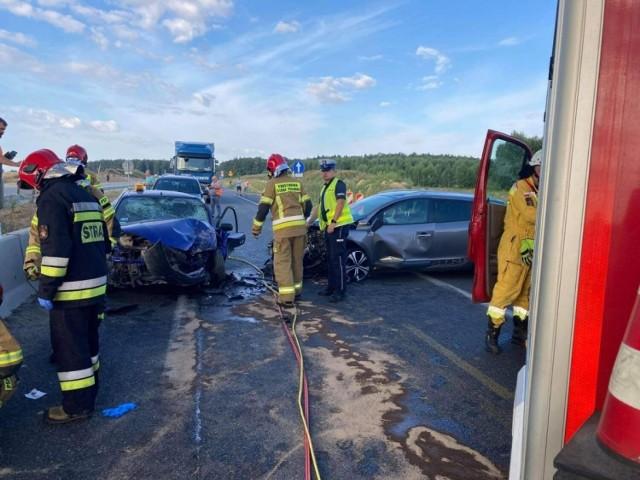 Wypadek na autostradzie A1 koło Piotrkowa Trybunalskiego.