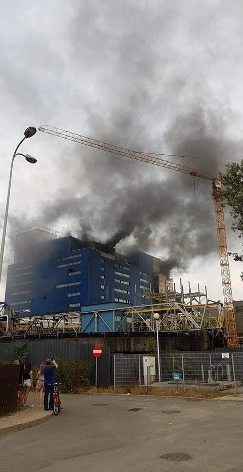 Pożar w KWK Knurów-Szczygłowice. Nad kopalnią unosiły się kłęby czarnego dymu Zdjęcie dzięki uprzejmości portalu informacyjnego Iknurow.pl