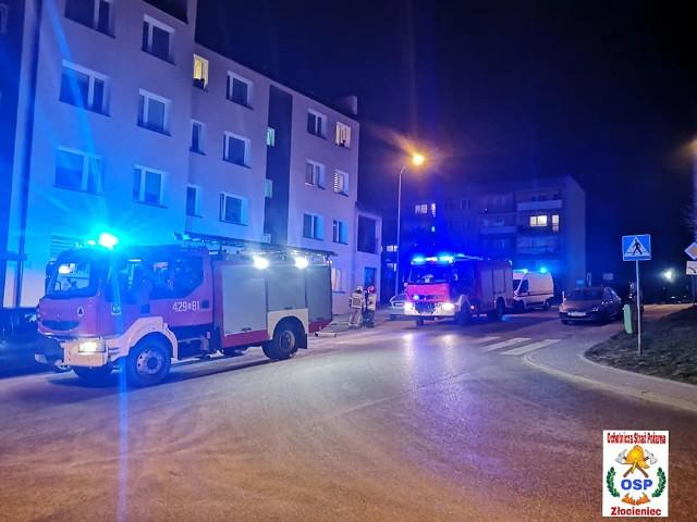 W piątkowy wieczór służby zostały zaalarmowane o ulatniającym się gazie w jednym z mieszkań przy ulicy Rybackiej w Złocieńcu.
