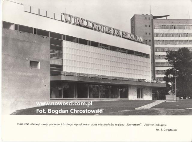 Uniwersam został otwarty jesienią 1980 roku, był wtedy największym domem towarowym w Toruniu