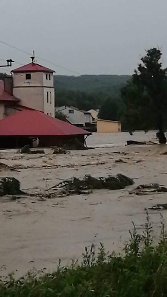 Walka z powodzią na Podkarpaciu. Sieniawa, pow. przeworski